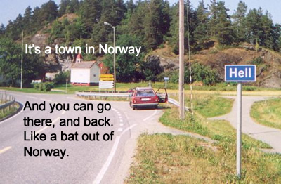 norway town hell norge