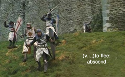 monty python's the search for the holy grail run away