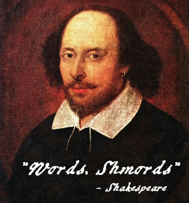william shakespeare words
