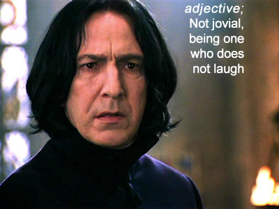 severus snape harry potter half blood prince the deathly hallows laugh does agelastic