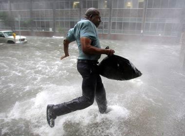 mythbusters running walking rain